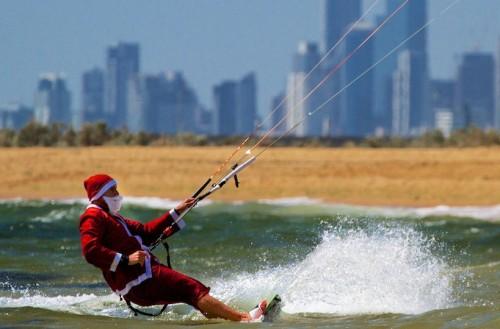 Santa_Kitesurfing