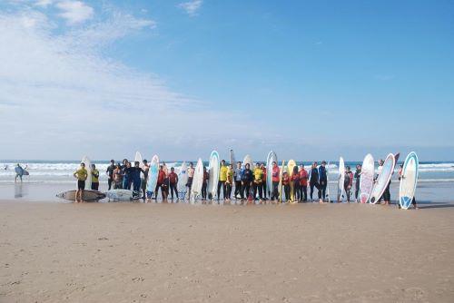 серфинг. пляж, испания, сан-висенто, доска, волна