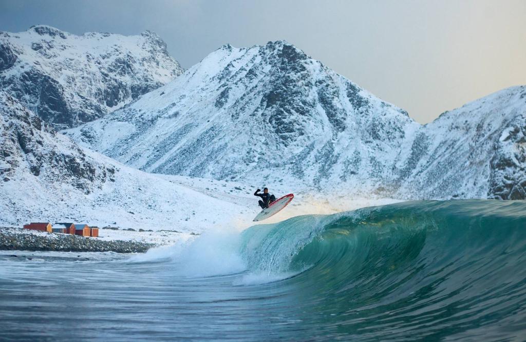 сёрфинг, доска, волна, ветер, норвегия
