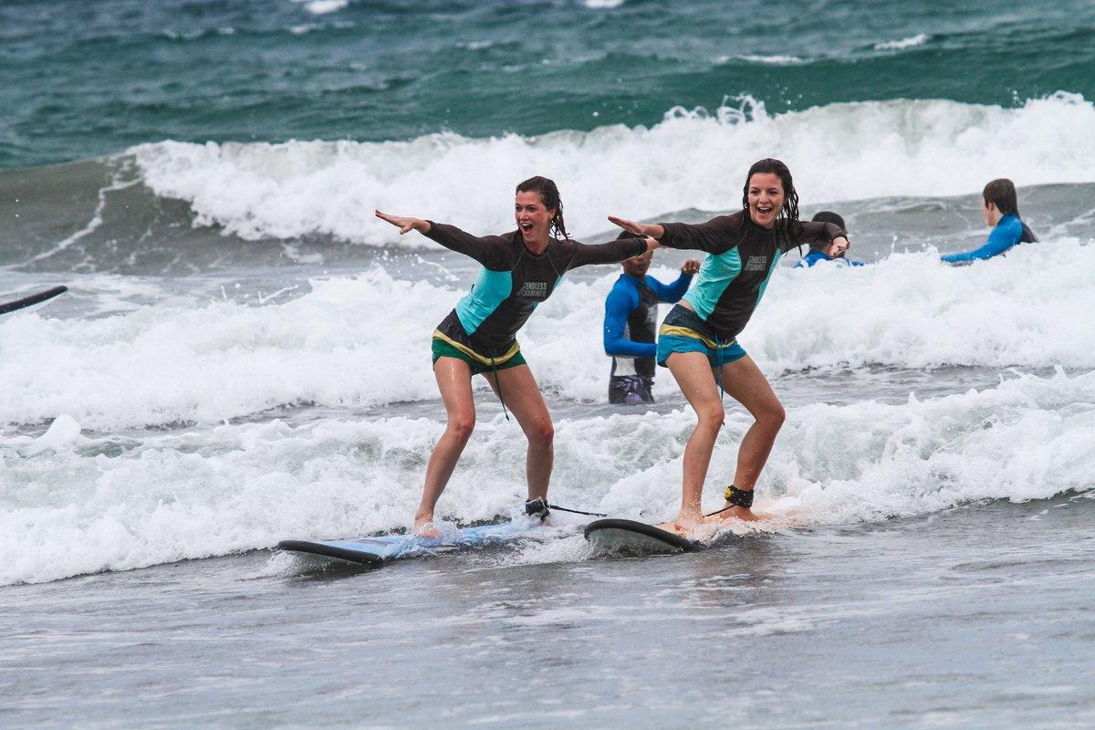 серфинг, индонезия, доска, море, девушки