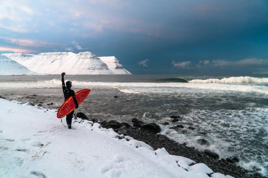 исландия, серфинг, доска, волна, ветер, экстрим