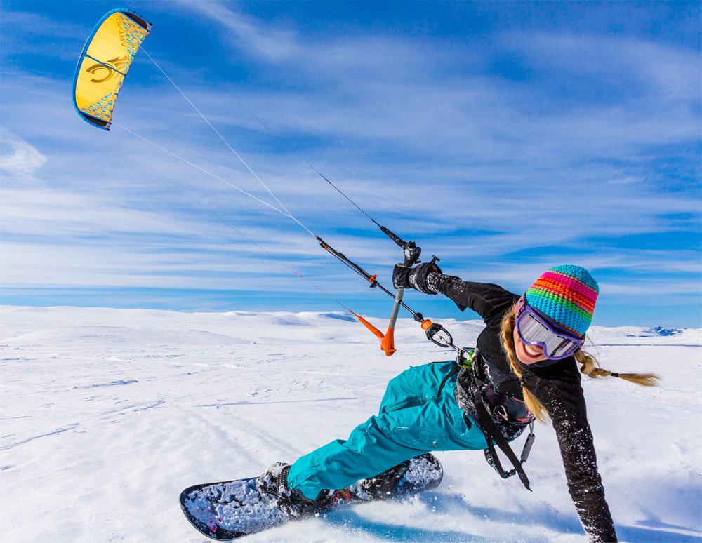 сноукайтинг, сноуборд, ветер, лыжи, кайт, снег, лёд
