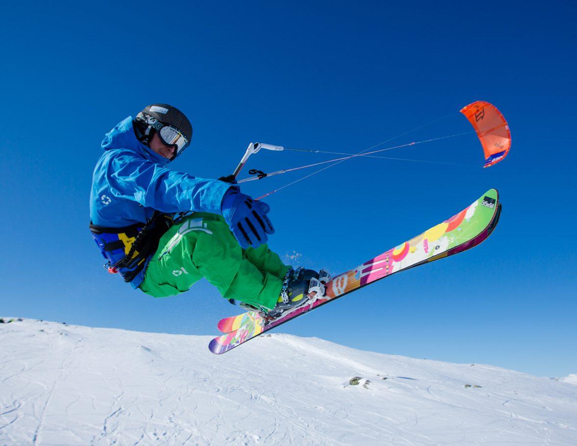 сноукайтинг, ветер, сноуборд, снег, лыжи, лёд, кайт