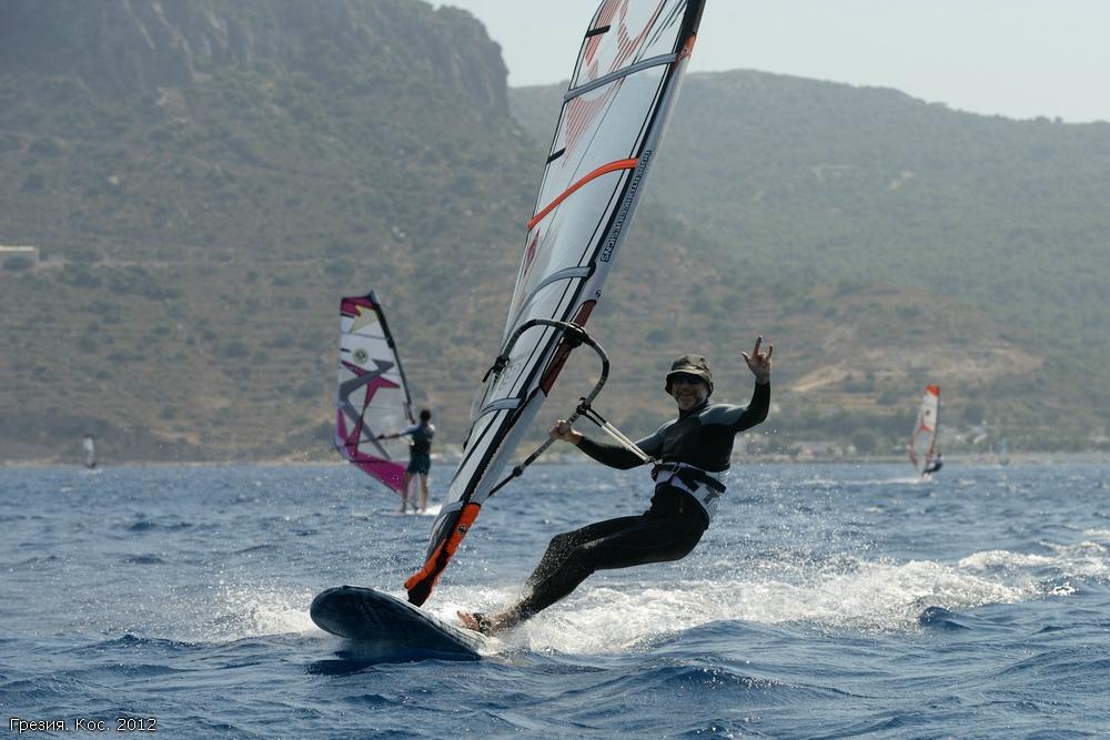 виндсерфинг, доска, ветер, парус. море