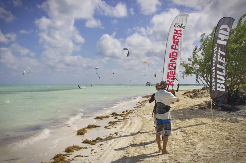 кайт, море, песок, волна, ветер, куба