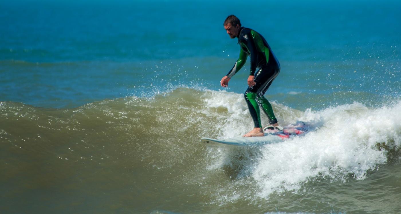 серфинг, доска, море, ветер, волна