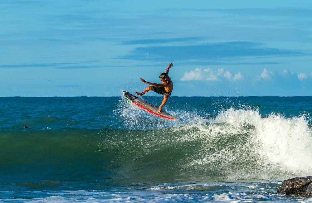 серфинг, море, волна, доска, ветер