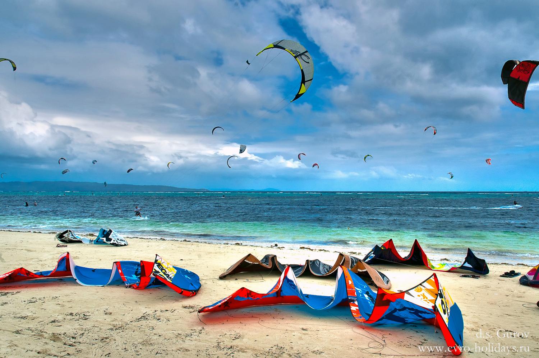 кайт, море, волна, ветер