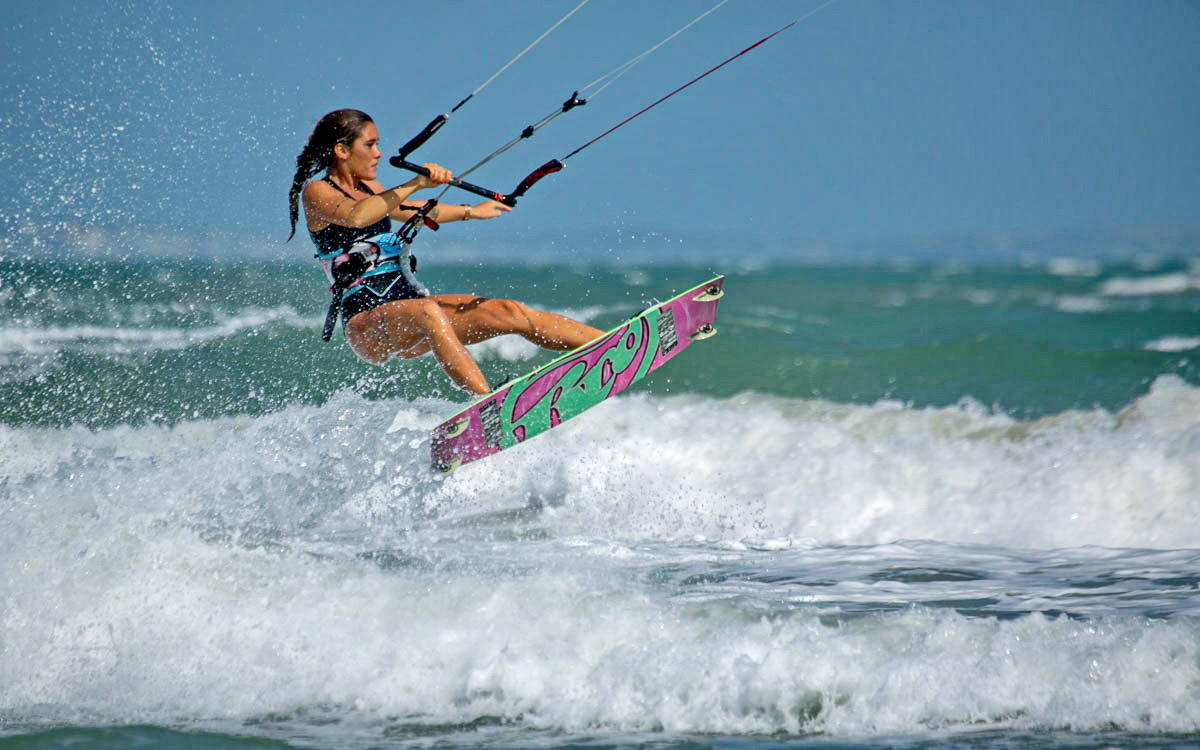 кайтсерфинг, море, ветер, кайт