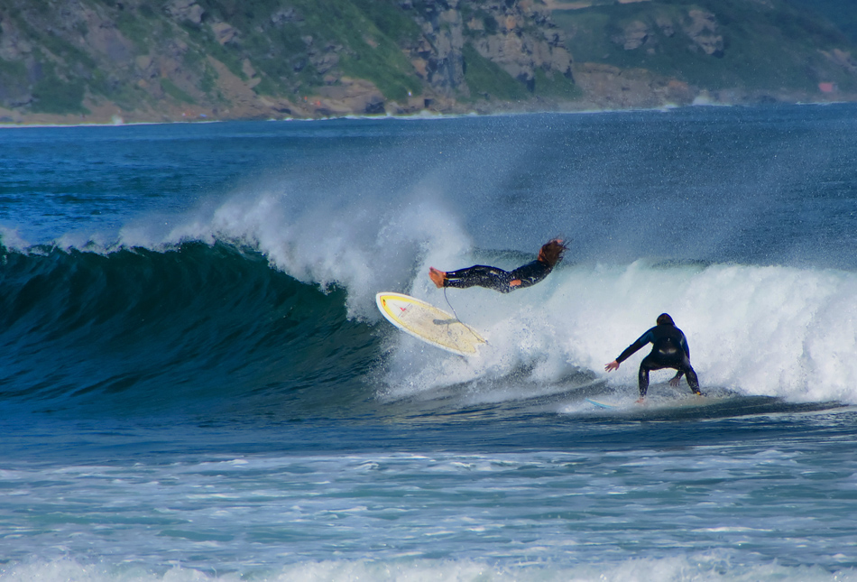 серфинг, волна, доска, море, владивосток