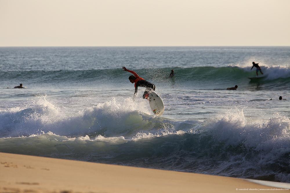 серфинг, море, доска, волна, ветер, песок