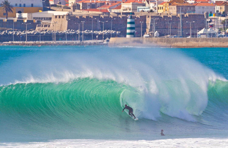 серфинг, португалия, доска, волна, ветер, море