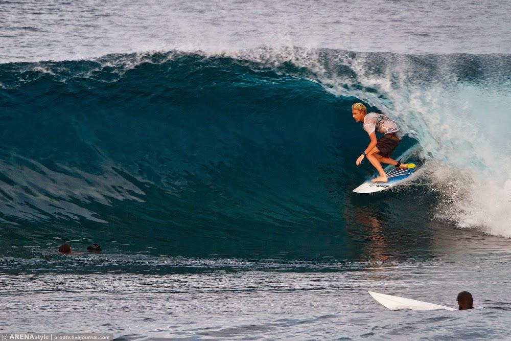 серфинг, индия, волна, ветер, пляж, доска