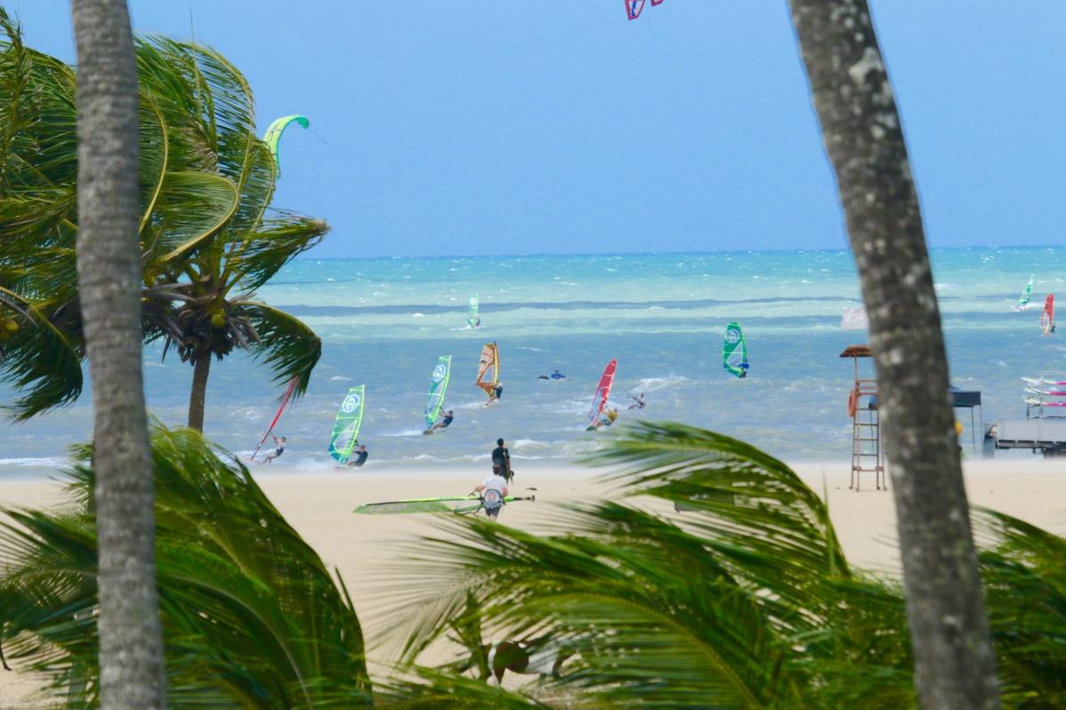 серфинг, доска, ветер, парус